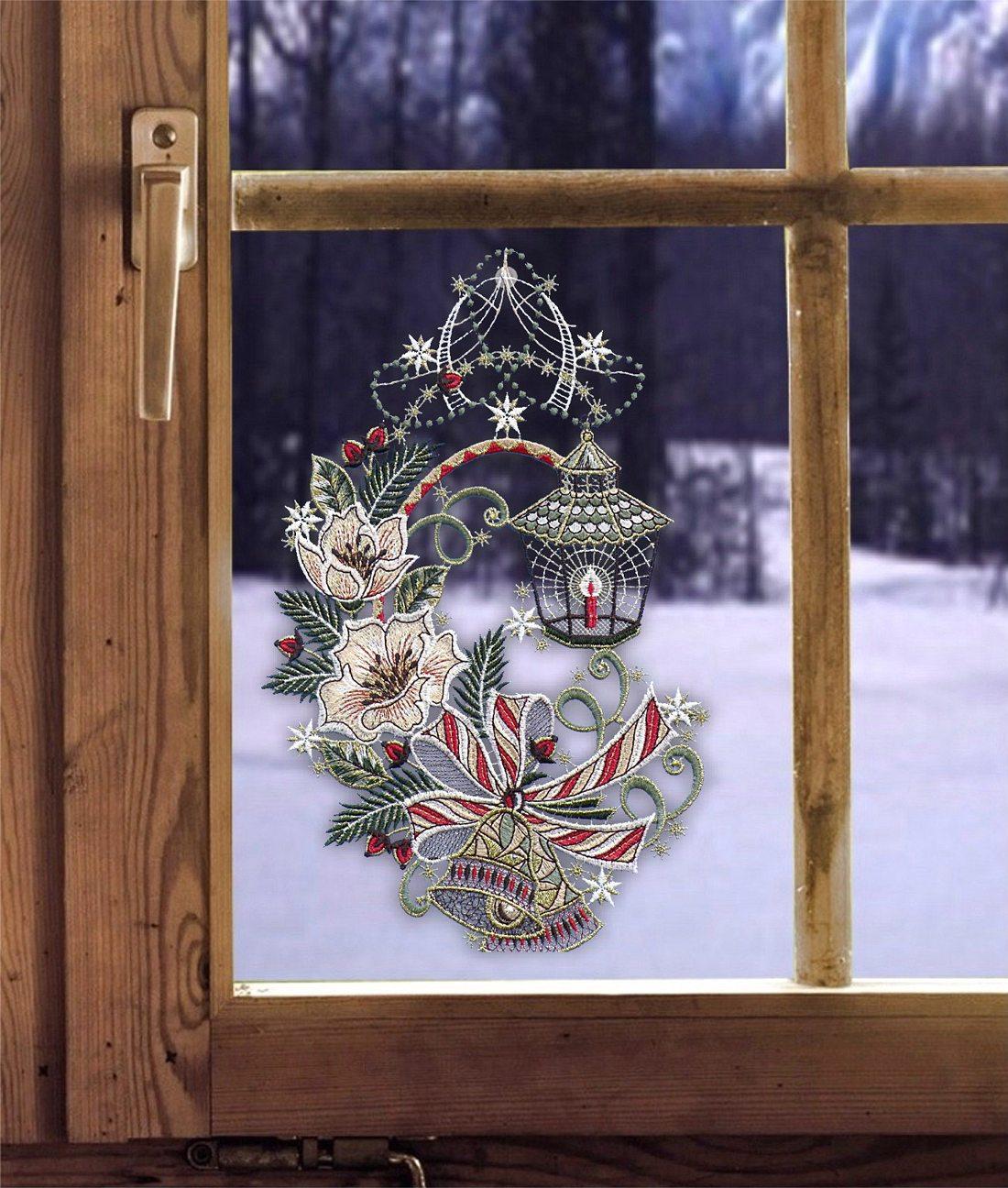 Schönes Holz Fensterbild beleuchtet--Frühling//Ostern--16 cm--Fenster Dekoration