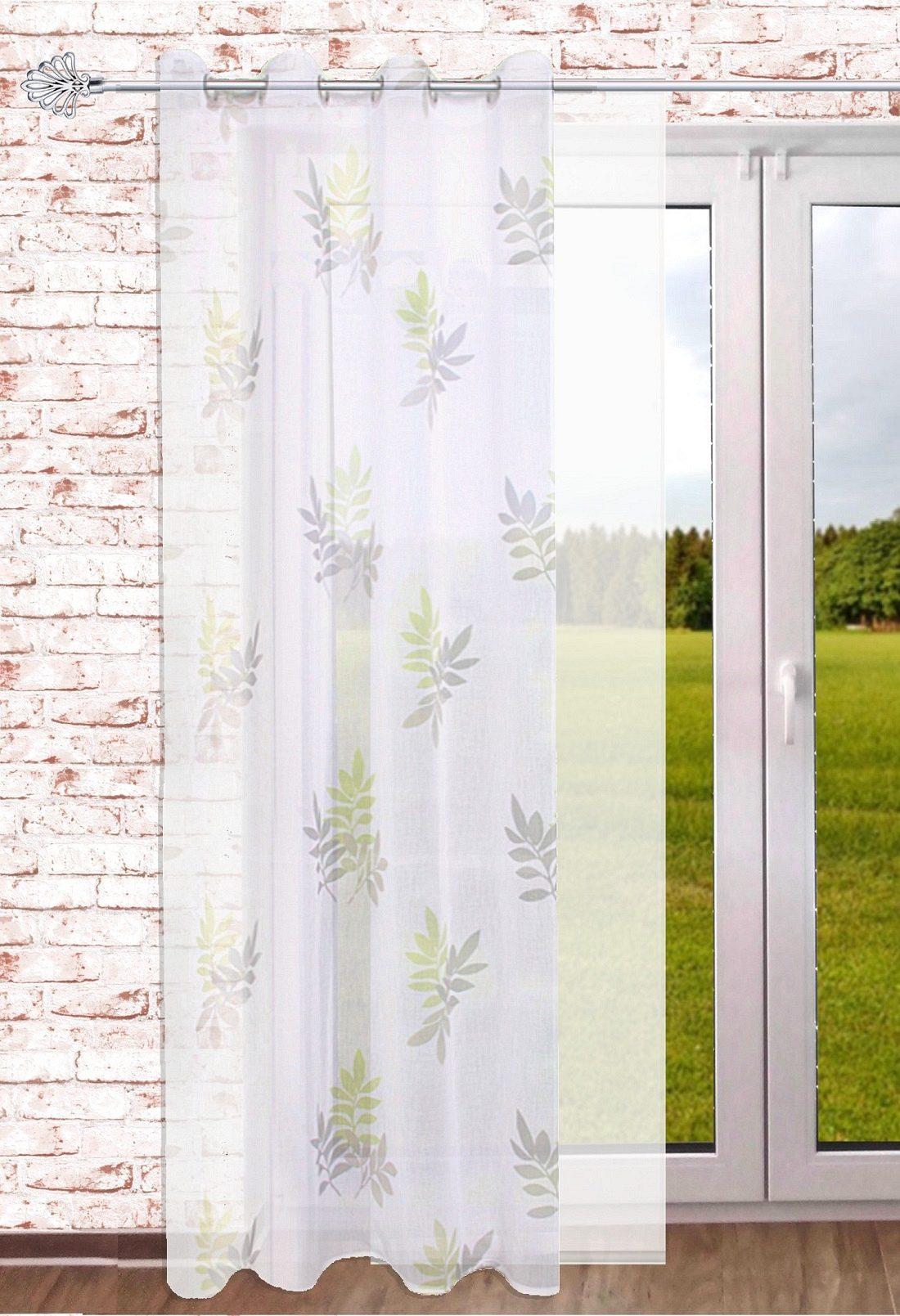 gardinen welt online shop transparenter senschal blatt 140 x 245 cm gardinenschal mit sen. Black Bedroom Furniture Sets. Home Design Ideas