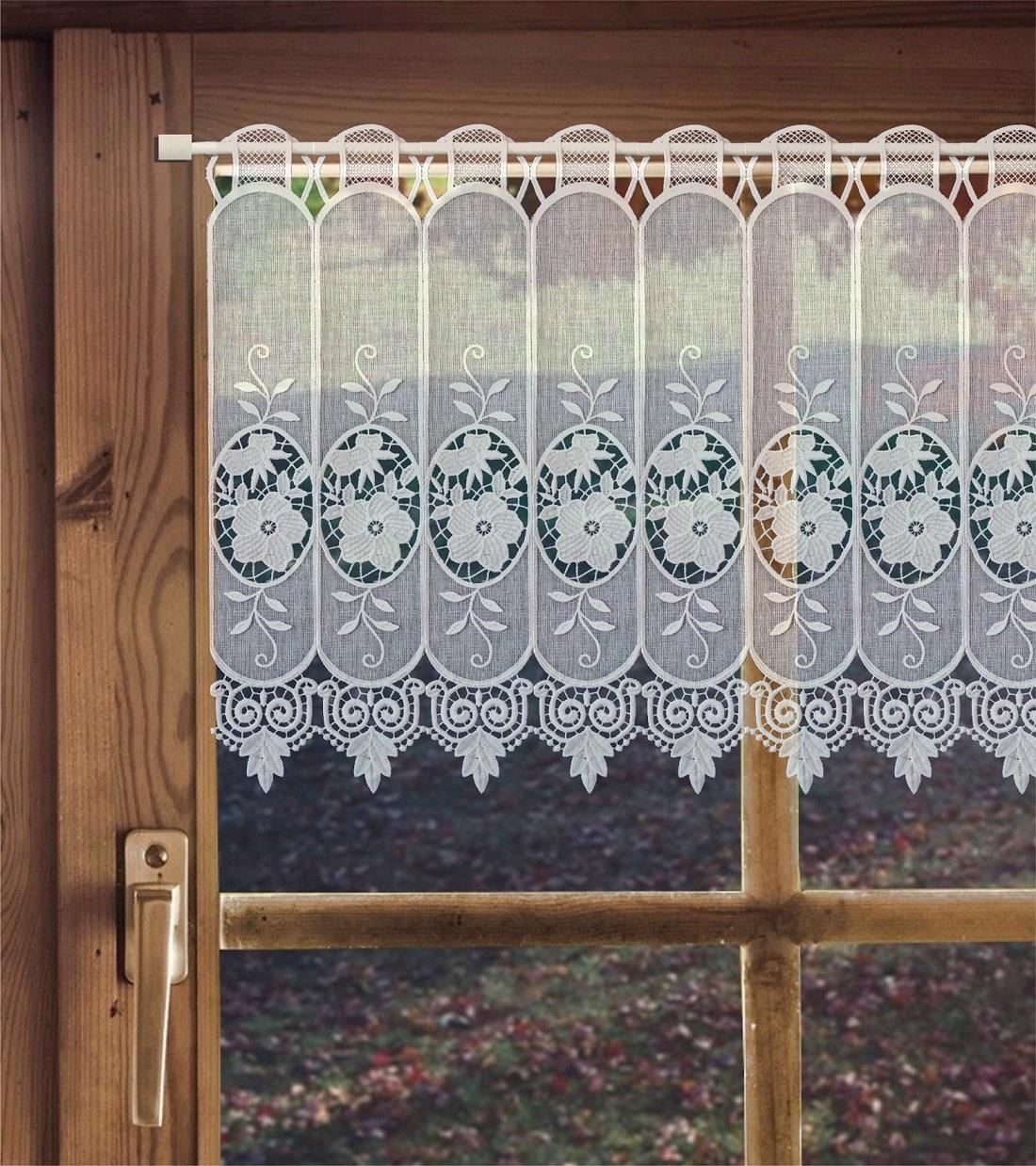 gardinen welt online shop scheibengardine aus plauener spitze spitzengardine zierlauch h he. Black Bedroom Furniture Sets. Home Design Ideas