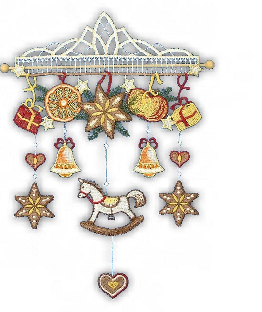 Gardinen-Welt Online Shop - Fensterbild / Windspiel für Weihnachten ...