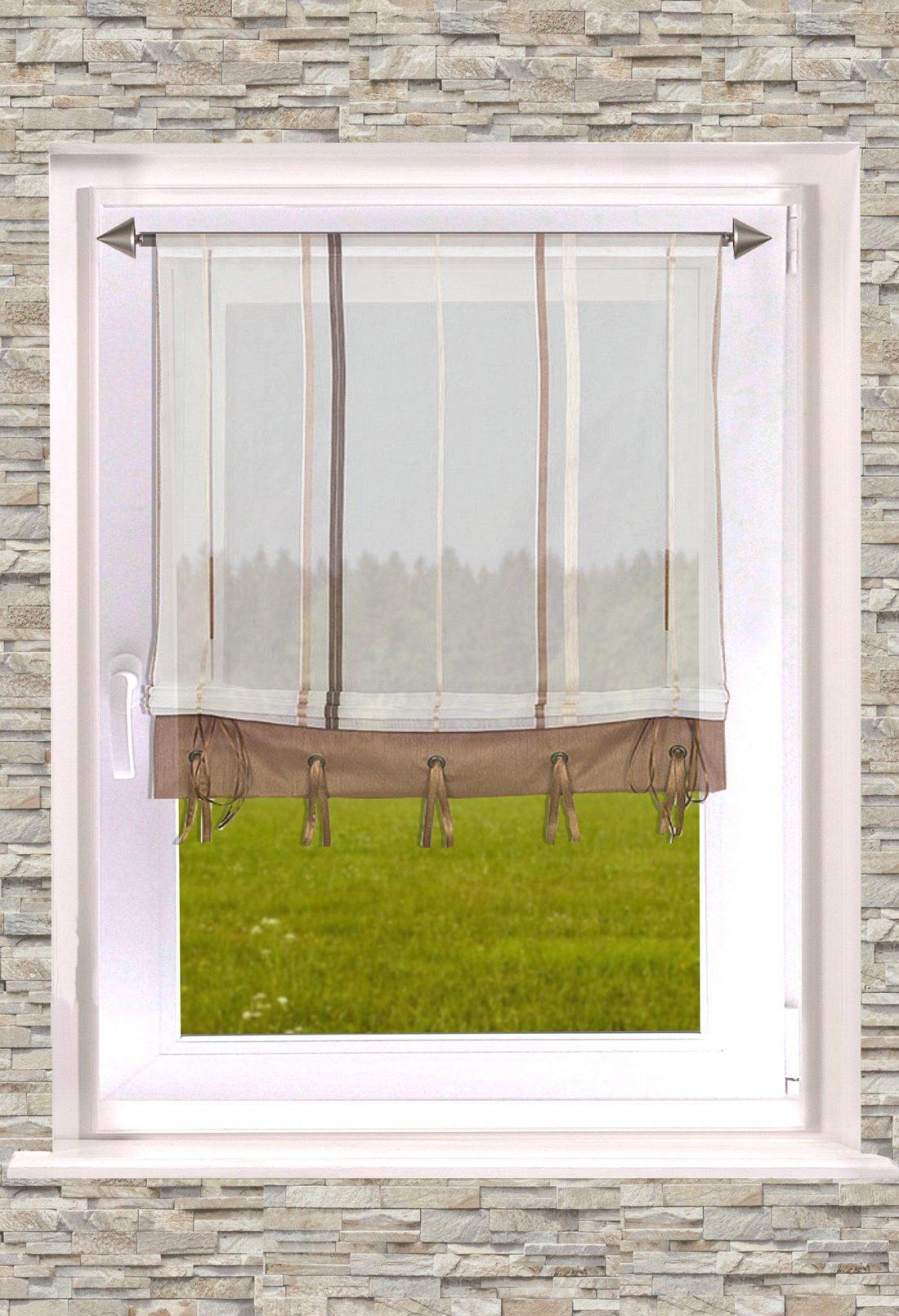 gestreiftes raffrollo stripes b ndchenrollo in 2 farben transparent 60cm 100cm x135cm. Black Bedroom Furniture Sets. Home Design Ideas