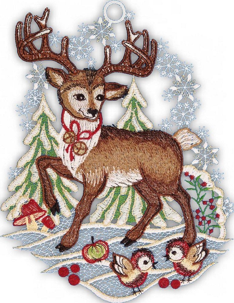 Gardinen welt online shop fensterbild mit wintermotiv - Plauener spitze fensterbild ...