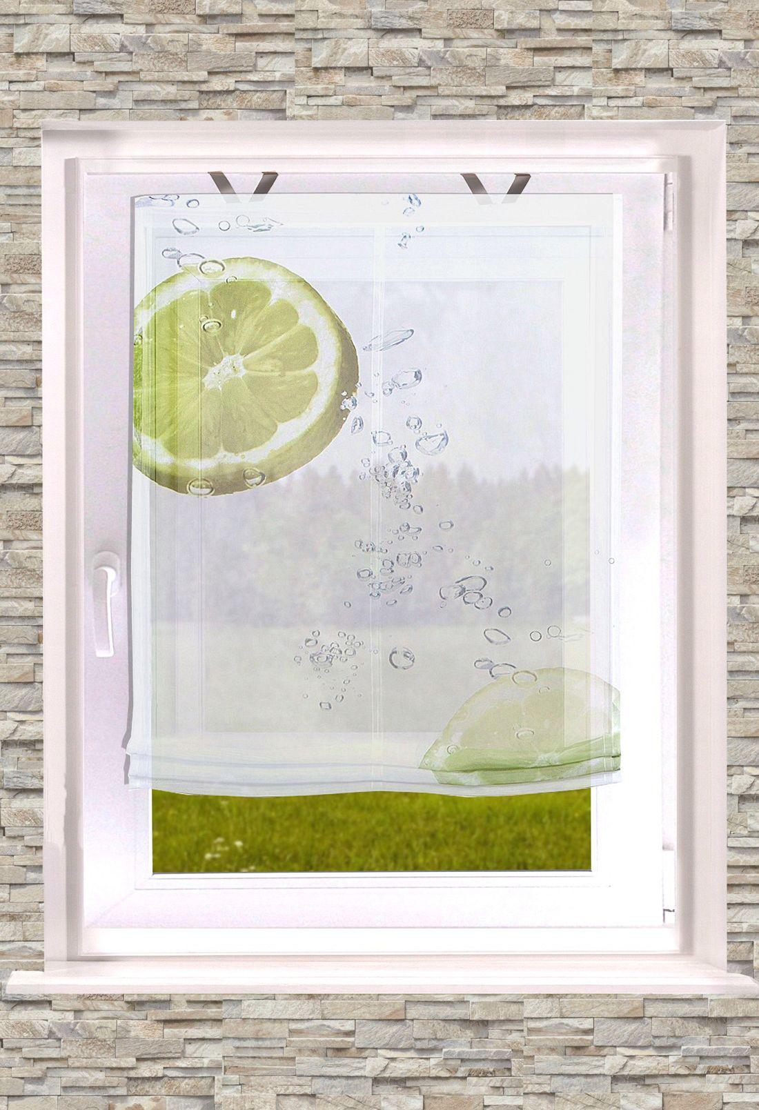 Gardinen Welt Online Shop Raffrollo Digitaldruck Citrus