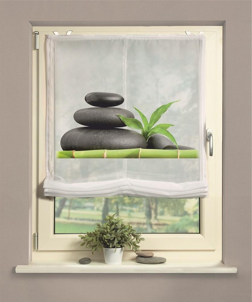 gardinen welt online shop raffrollo mit digitaldruck motiv stein. Black Bedroom Furniture Sets. Home Design Ideas