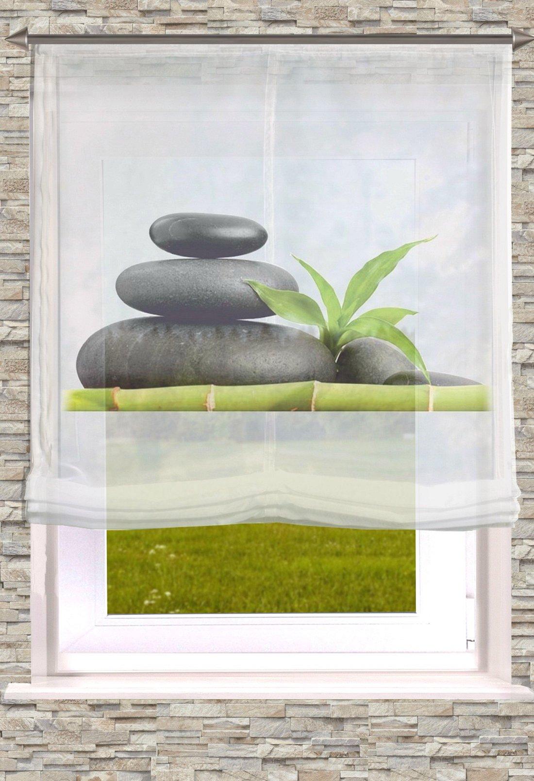 raffrollo mit digitaldruck motiv stein gardinen welt online shop. Black Bedroom Furniture Sets. Home Design Ideas