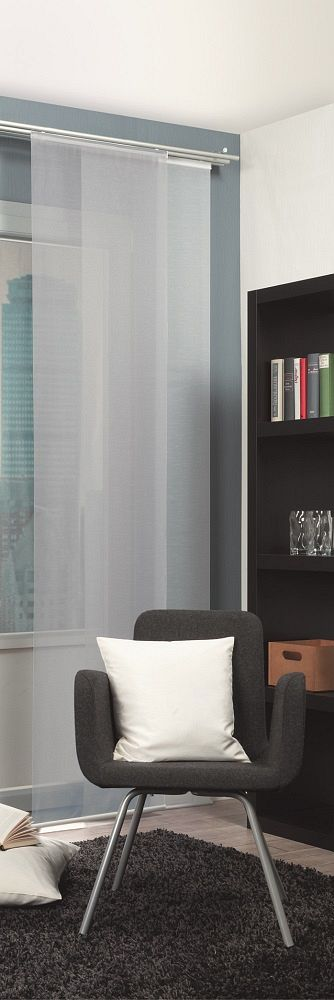 gardinen welt online shop schiebevorhang raumteiler fl chenvorhang uni wei. Black Bedroom Furniture Sets. Home Design Ideas