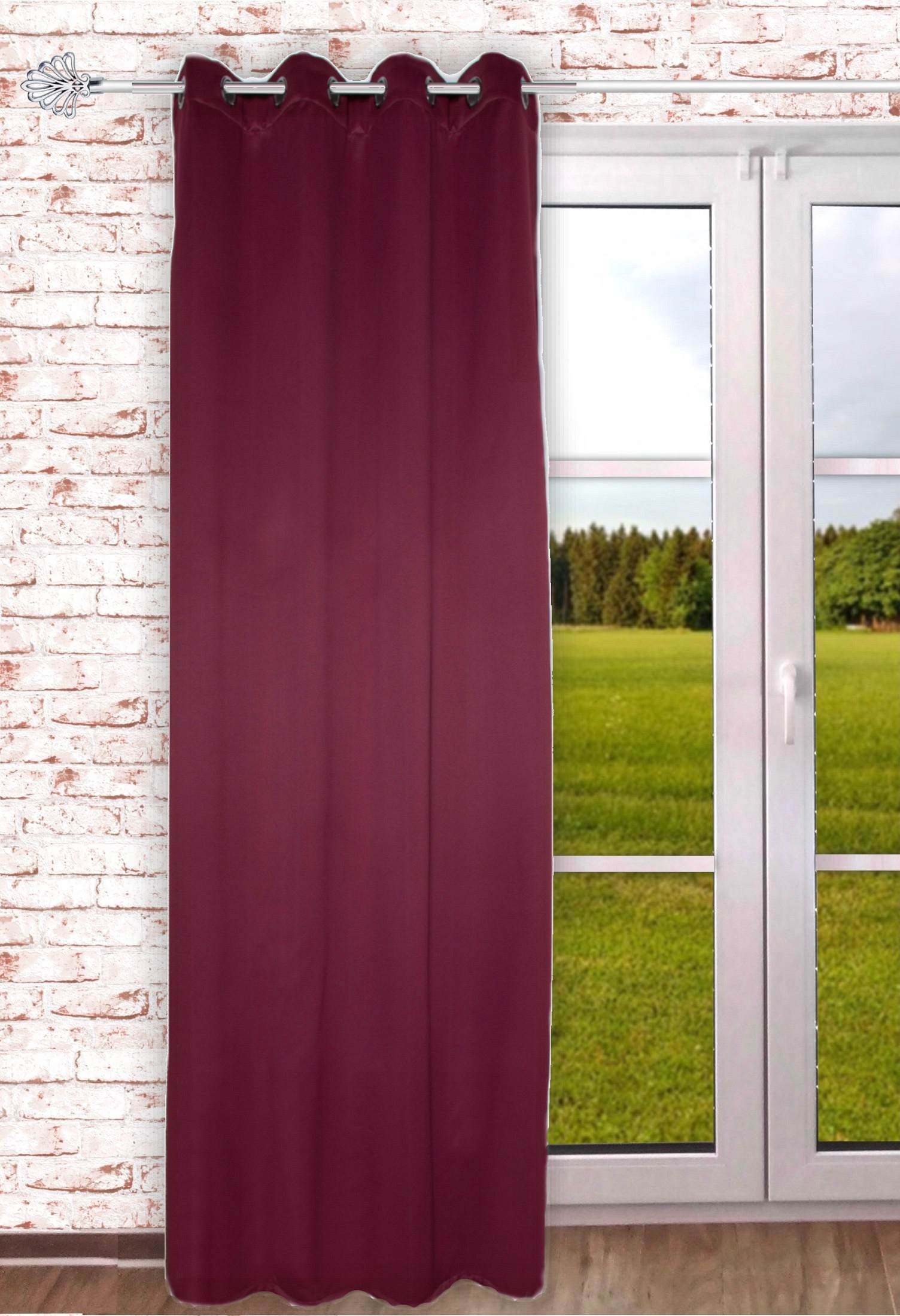gardinen welt online shop senschal thermostoff thermoblackout verdunkelnd rot 135x245cm. Black Bedroom Furniture Sets. Home Design Ideas