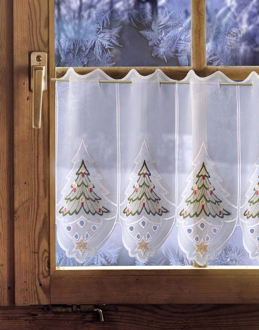 gardinen welt online shop scheibengardine weihnachtsgardine festliche kerze 35cm 55cm hoch. Black Bedroom Furniture Sets. Home Design Ideas