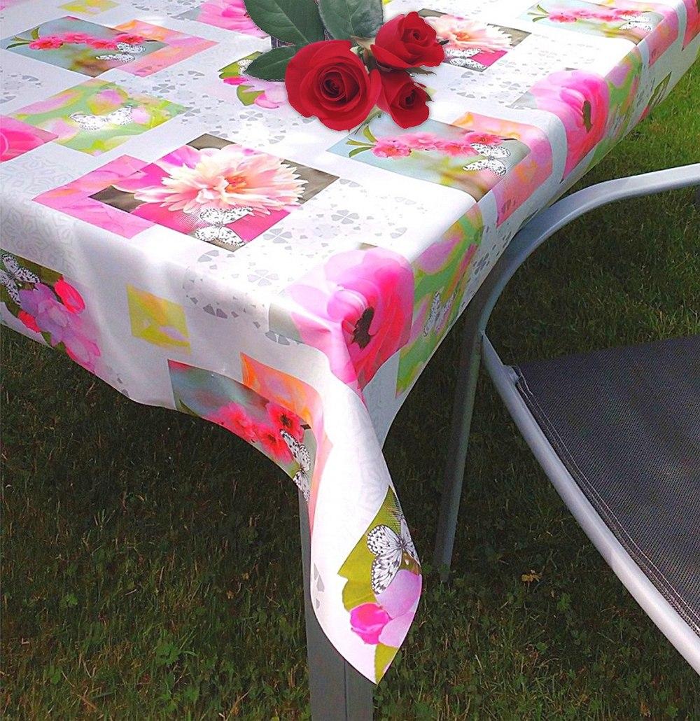 Gardinen welt online shop outdoor tischdecke blumen - Tischdecke outdoor ...