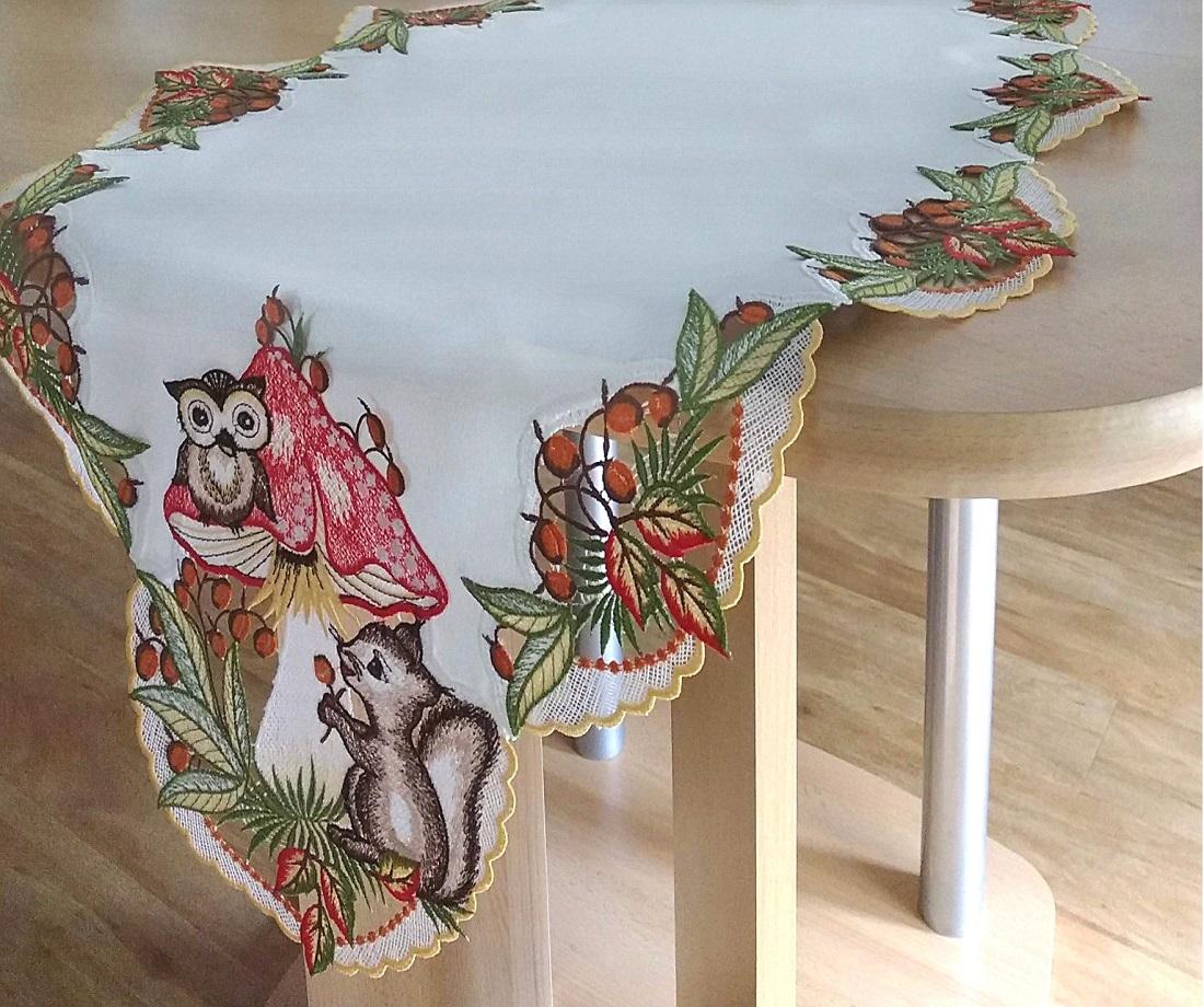gardinen welt online shop herbst tischdecke herbstidylle edle tischdecken aus plauener spitze. Black Bedroom Furniture Sets. Home Design Ideas