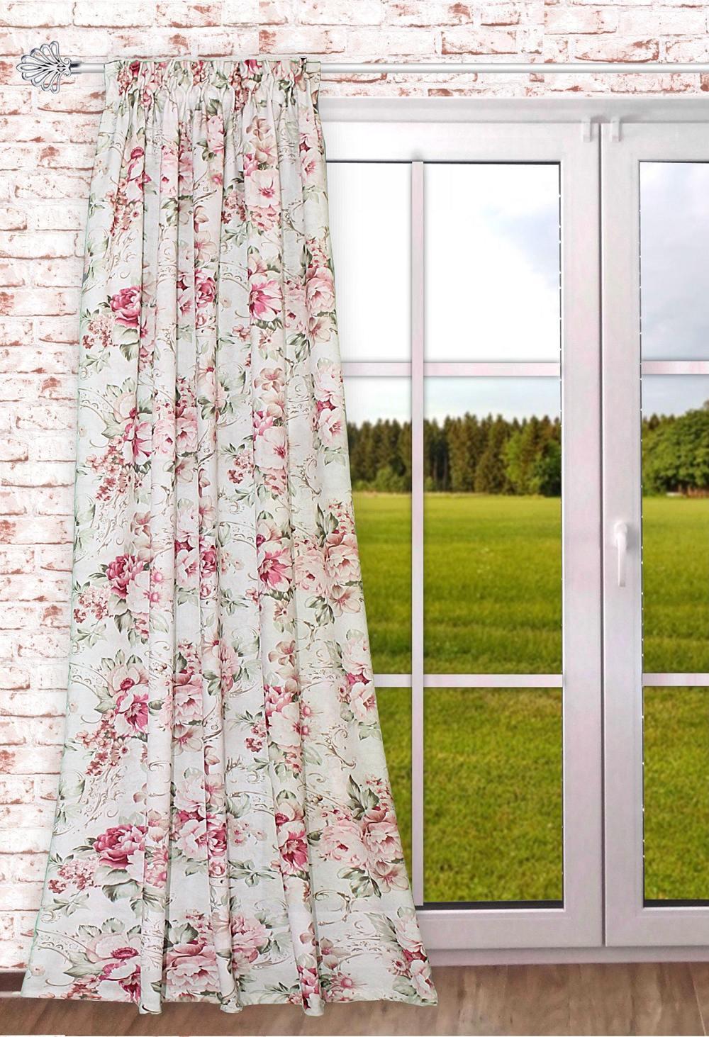 gardinen welt online shop gardine gardinenschal romantika. Black Bedroom Furniture Sets. Home Design Ideas