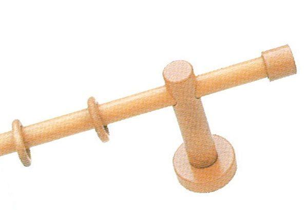 gardinen welt online shop holzgarnitur vorhangstangen mit ringen 20 mm wood endst ck kappe. Black Bedroom Furniture Sets. Home Design Ideas