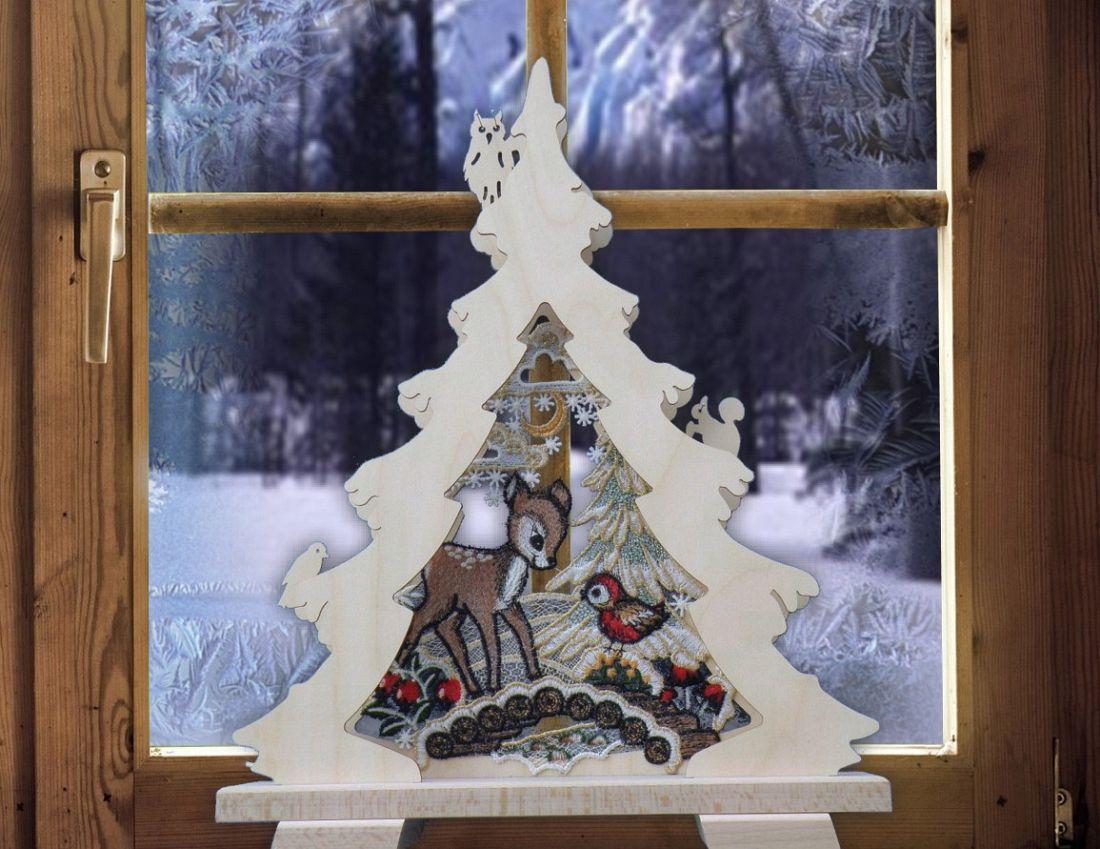 Tannenbaum Erzgebirge.Gardinen Welt Online Shop Weihnachtlicher Schwibbogen Mit Motiv