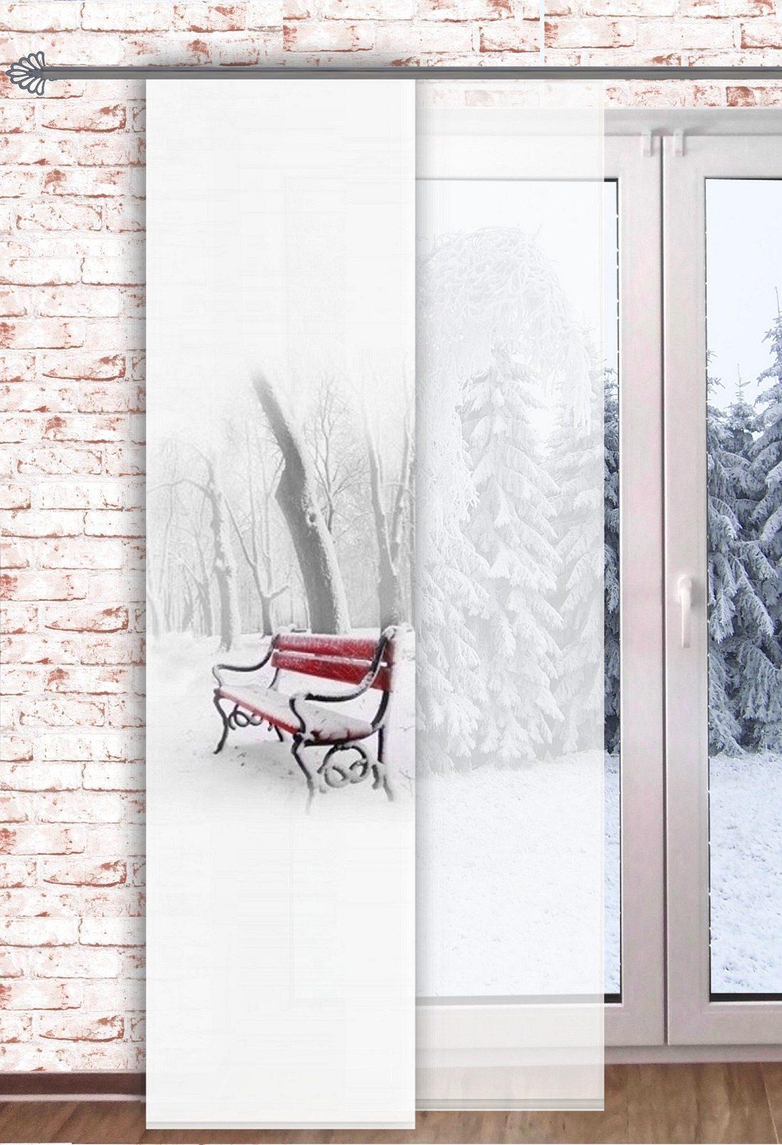 "Schiebegardine /""WINTERTIME/"" Flächenvorhang Schiebevorhang Vorhang Raumteiler"