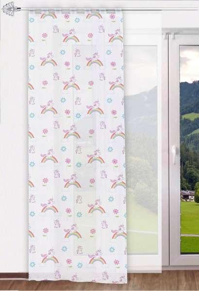 Moderner schlaufenschal aus transparentem voile im trendthema einhorn ideal f r das - Schlaufenschal kinder ...