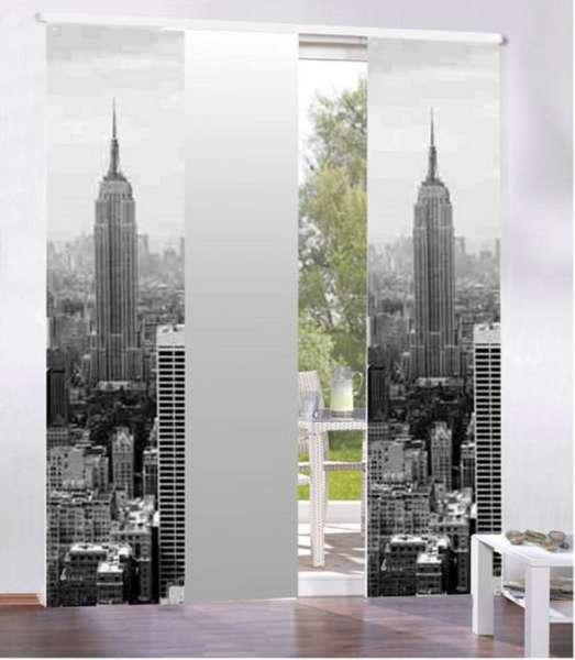 schiebevorhang raumteiler fl chenvorhang grau gardinen welt online shop. Black Bedroom Furniture Sets. Home Design Ideas