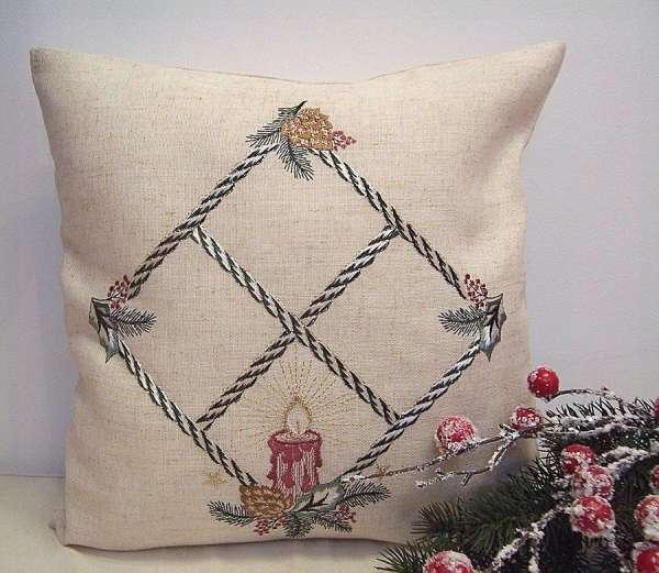 gardinen welt online shop kissenh lle weihnachtskerze 40. Black Bedroom Furniture Sets. Home Design Ideas