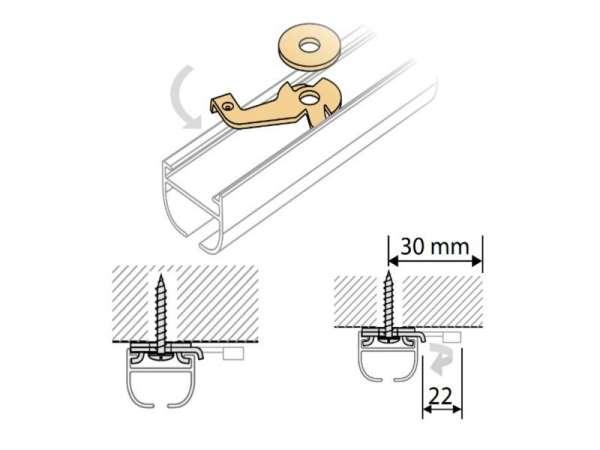 aluminium gardinenschienen und vorhangschienen auf gardinen gardinen welt online shop. Black Bedroom Furniture Sets. Home Design Ideas